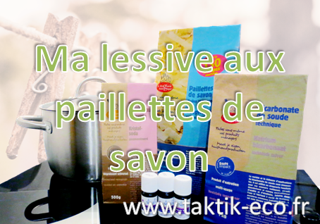 Lessive aux paillettes de savon photo presentation