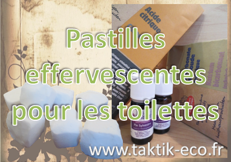 Pastilles effervescentes toilettes photo presentation