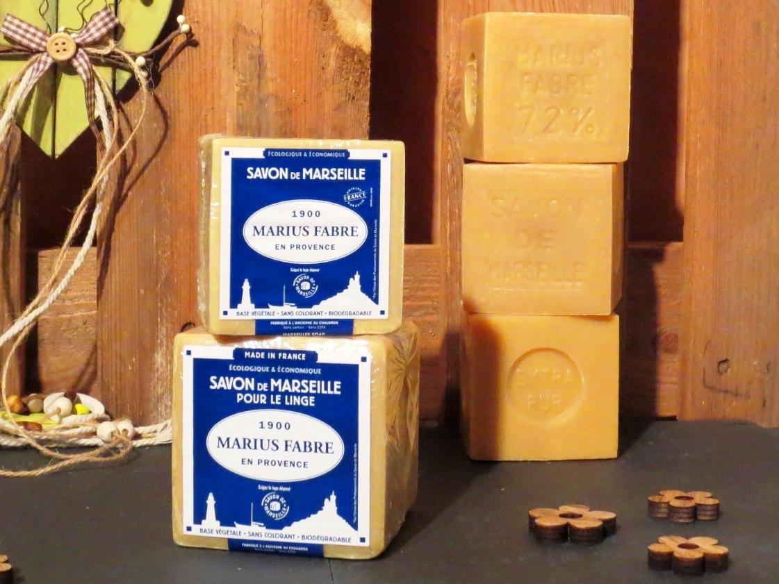Savon de marseille blanc v ritable marius fabre 400g ou 600g - Veritable savon de marseille ...