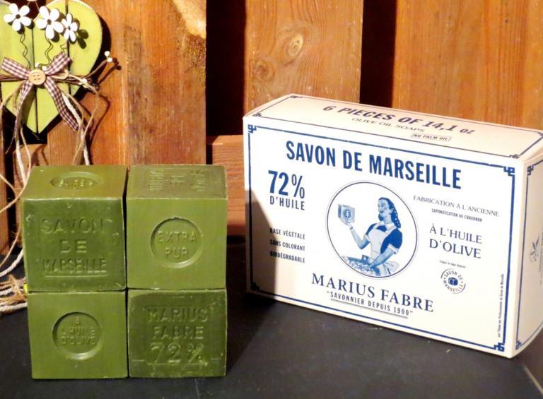 Savon de marseille marius fabre 6x400g - Veritable savon de marseille ...