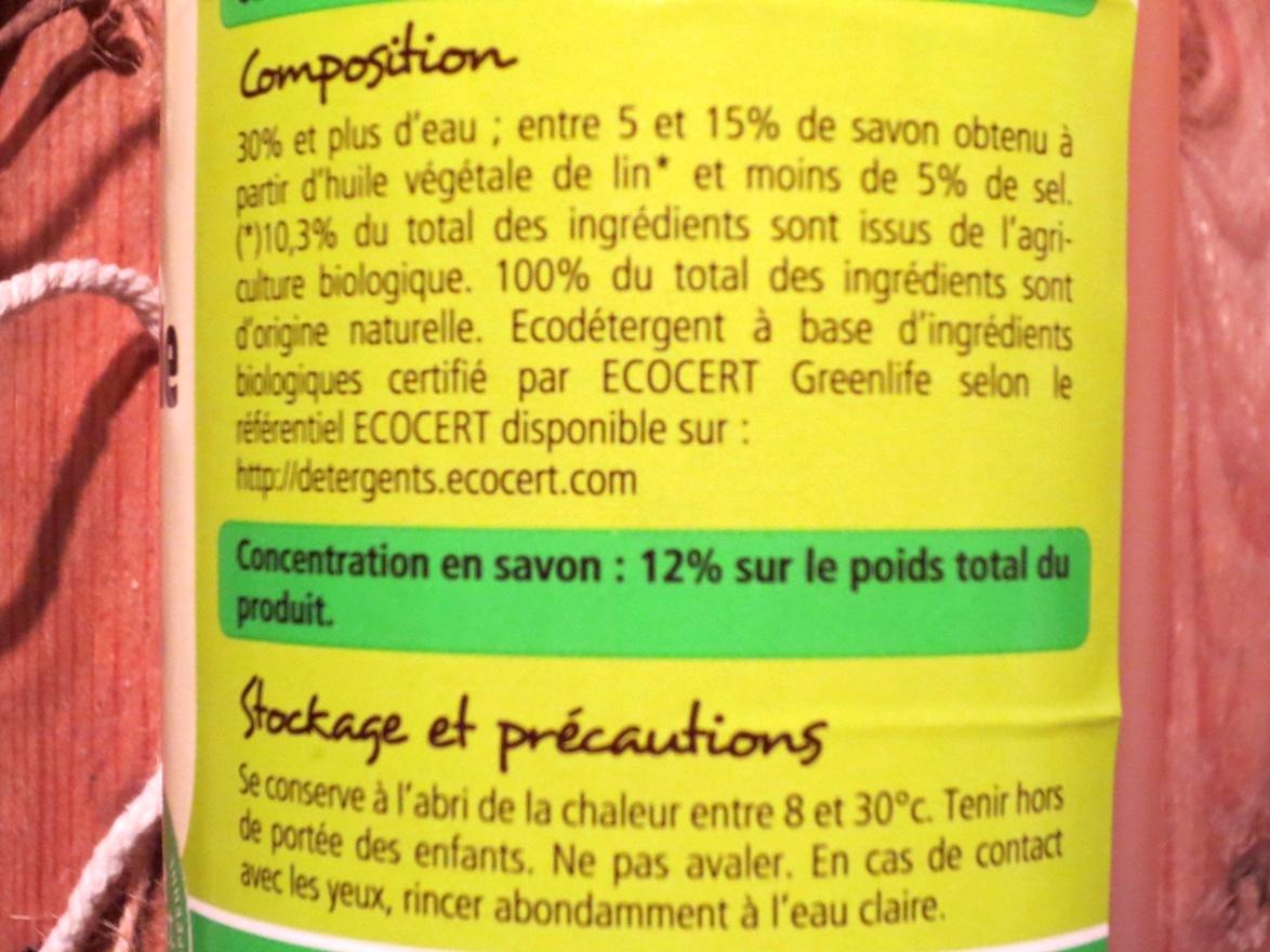Savon noir liquide a l huile de lin bio 5