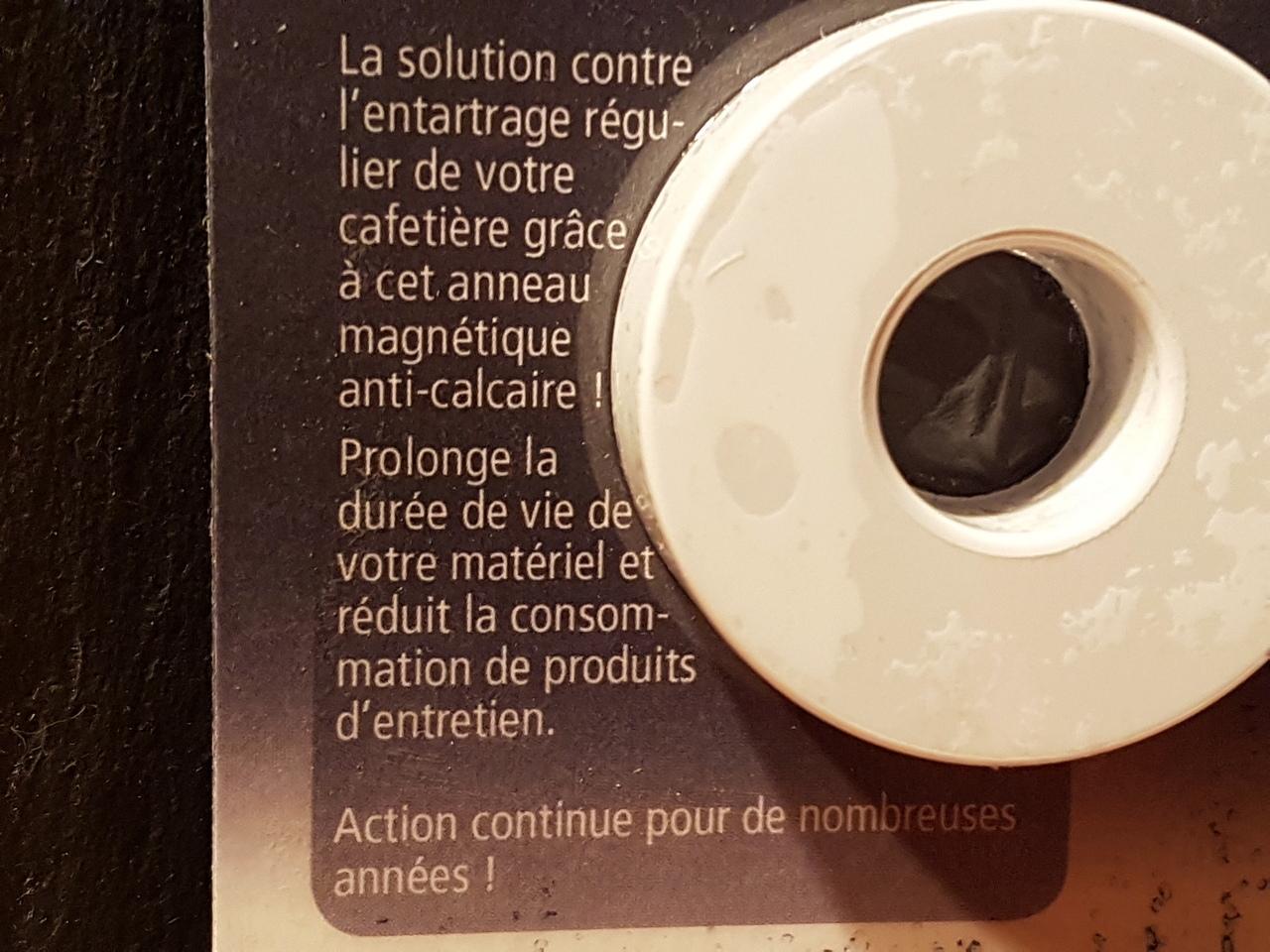 Anneau anti calcaire machine a cafe 2