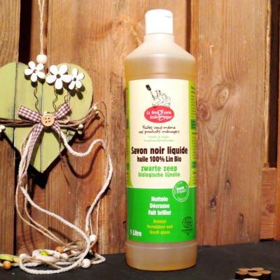 Savon noir liquide a l huile de lin bio 1